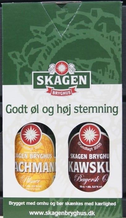 """Gaveæske """"Godt Øl"""" m/2 øl a 50 cl."""