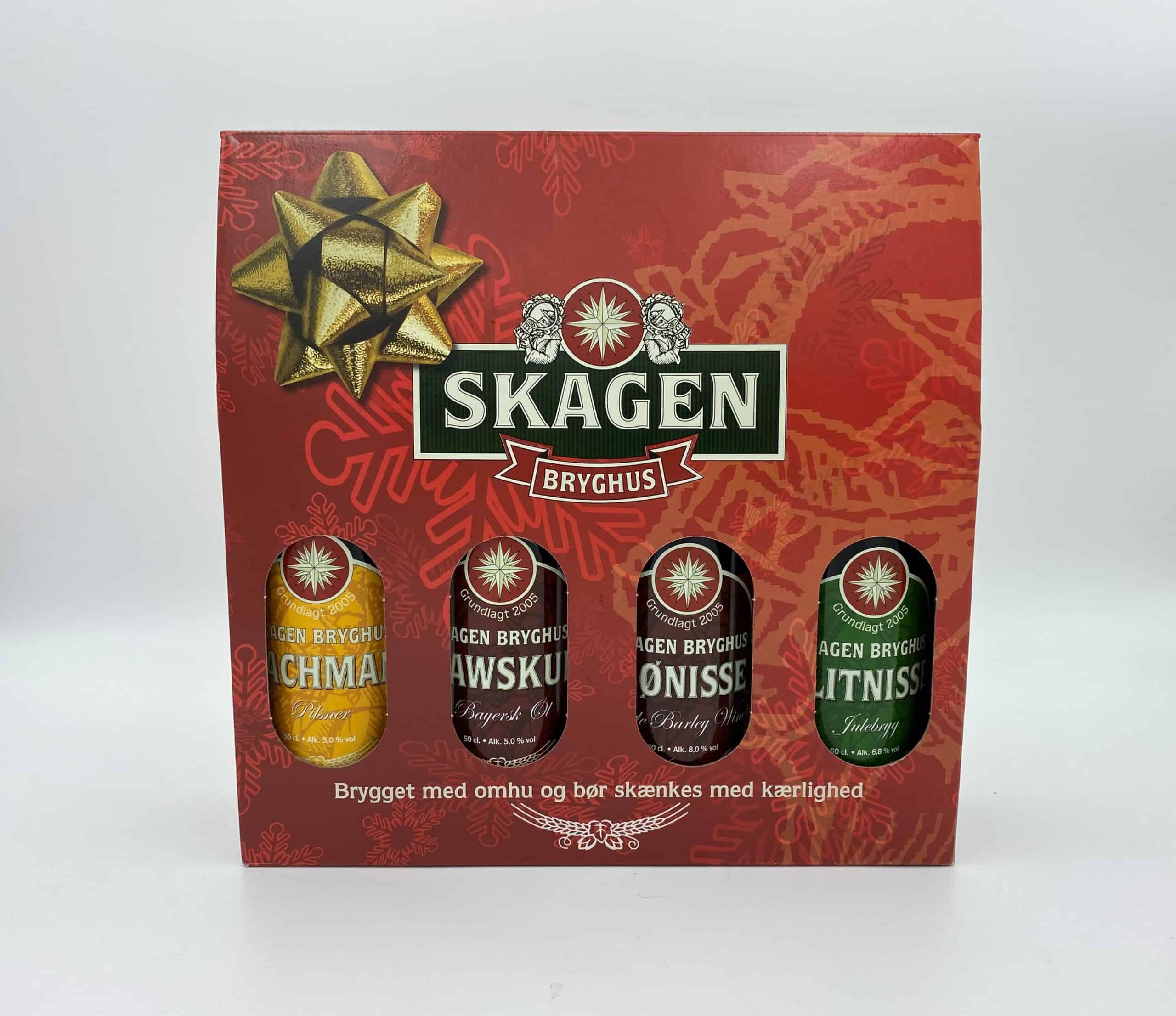 Julegavekasse til 4 Skagen Bryghus øl. (Aktionærtilbud)