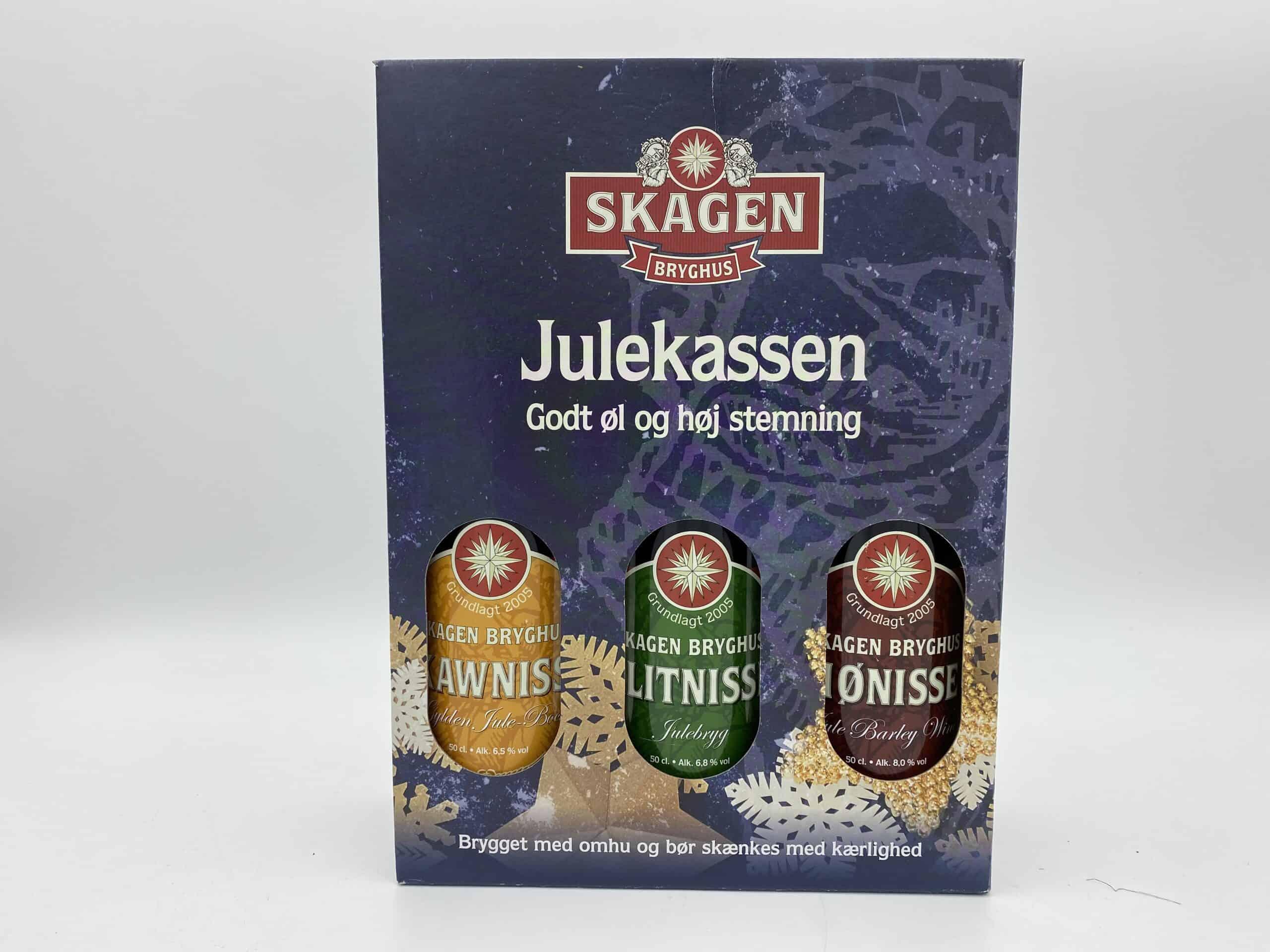 Julegavekasse m/ 3 Skagen Bryghus øl