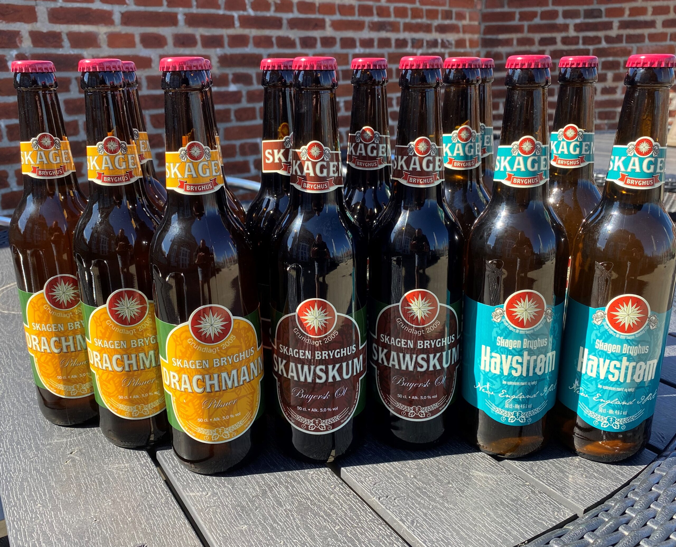 Maj-kassen 15 øl a 50 cl.
