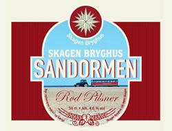 Sandormen Rød Pilsner 15 øl a. 50 cl.