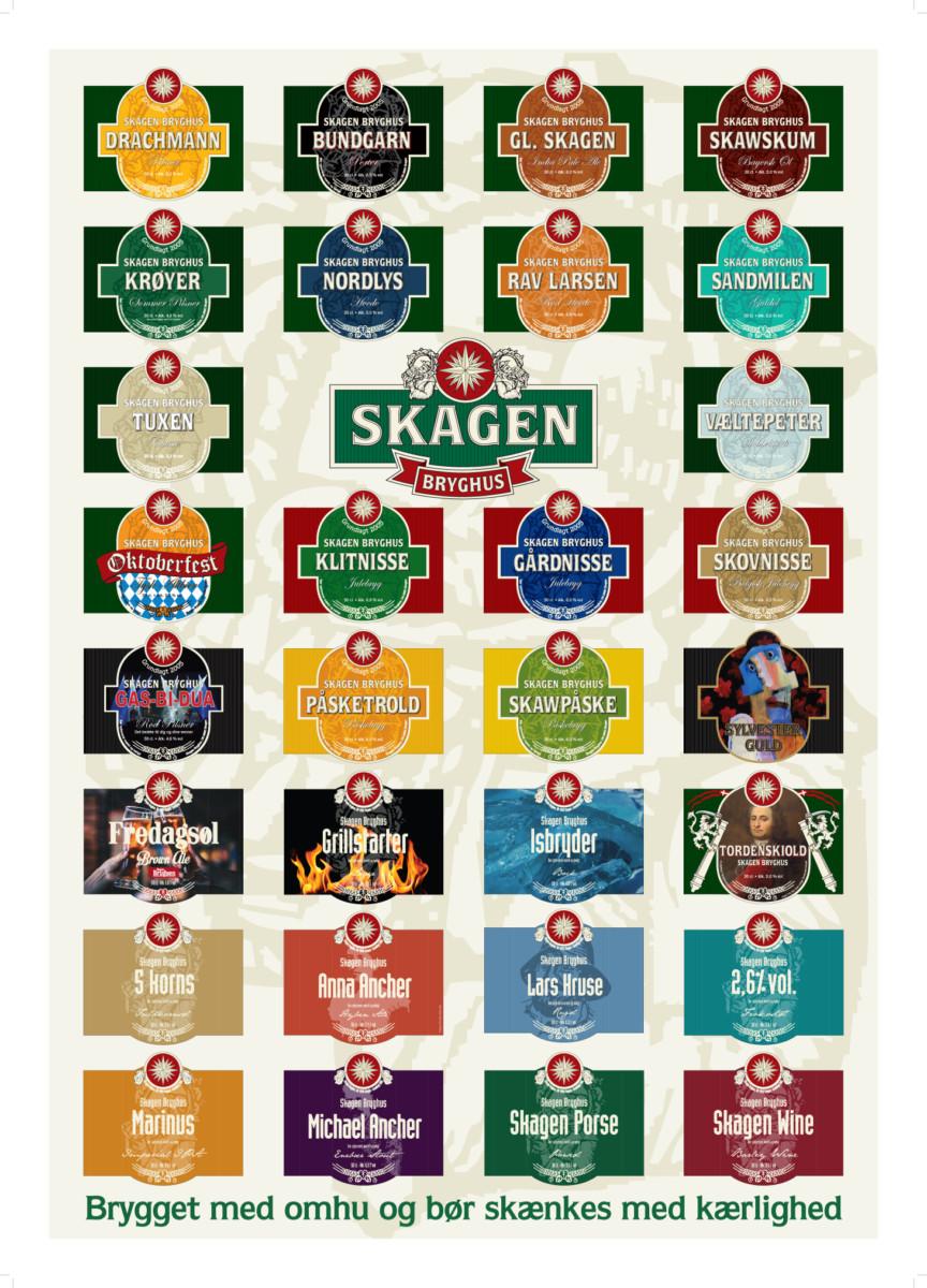 Skagen Bryghus Etiketplakat