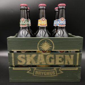 Retro ølkasse m/6 øl a 50 cl.
