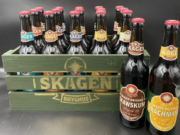 Retro Ølkasse m/15 forskellige øl
